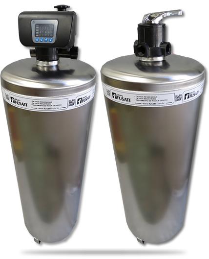 Filtro de Água de Entrada e Central Com Válvula Manual ou Automática • Tratamento de Água • Casa, Condomínio, Prédio Residencial Comercial • Modelos com Declorador de Carvão Ativado • FUSATI Filtro de Água e Tratamento de Efluente
