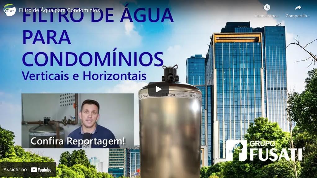 Vídeo depoimento Filtro de Água Central para condomínios e prédios